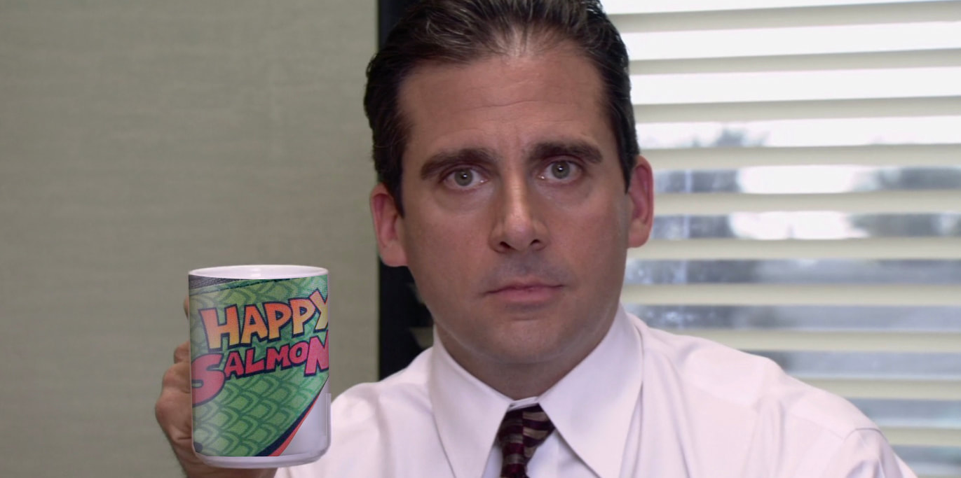 Happy Salmon Michael Scott